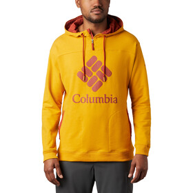 Columbia Lodge French Terry Huppari Miehet, bright gold heather/carnelian red
